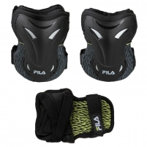 Apsaugų rinkinys Adult FP Gears black/lime S Velosipēdu un rullīšu aizsargi