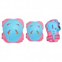 Apsaugų rinkinys SMJ CR-368 Girl blue-pink