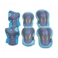 Apsaugų rinkinys Spokey PLATE, mėlynos spalvos, L dydis Velosipēdu un rullīšu aizsargi