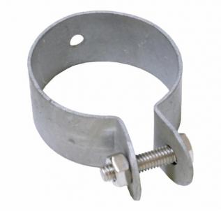 Apvali segmentų tvirtinimo galinė apkaba D-48 (cinkuota) Tvorų aksesuarai