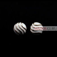 Round earrings A108