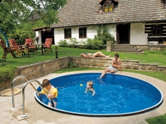 Round outdoor pool DeLuxe 400DL Outdoor swimming pools