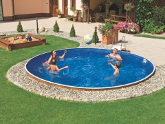 Round outdoor pool DeLuxe 401DL Outdoor swimming pools