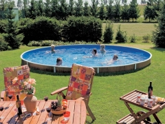 Round outdoor pool DeLuxe 403DL Outdoor swimming pools