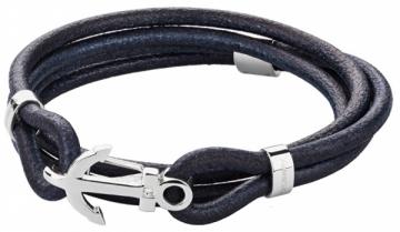 Apyrankė Brosway Men´s blue leather bracelet Marine BRN17