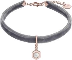 Apyrankė Cluse Velvet bracelet with hexagon CLJ13001 Браслет