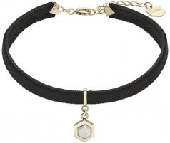 Apyrankė Cluse Velvet bracelet with hexagon CLJ13002