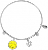 Apyrankė CO88 Steel bracelet Third chakra 860-180-026004-0000