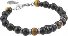 Apyrankė Green Time Bracelet made of wooden beads and tiger mesh ZWB219B Rokassprādze