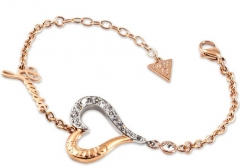 Apyrankė Guess Bicolor bracelet with heart UBB28034-S