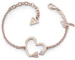 Apyrankė Guess Bronze bracelet with heart UBB85084-S Apyrankės