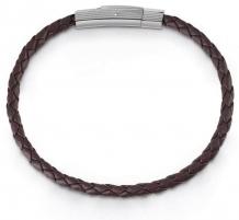 Apyrankė Guess Dark brown leather bracelet UMB85004