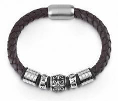 Apyrankė Guess Men´s brown leather bracelet UMB85010