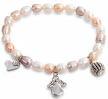 Apyrankė JwL Luxury Pearls Fine bracelet made of real pearls with ornaments JL0295