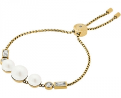 Apyrankė Michael Kors Fine Gold Bracelet with Beads and Clear Crystals MKJ6644710