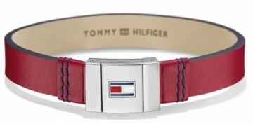 Apyrankė Tommy Hilfiger Stylish red leather bracelet TH2700951