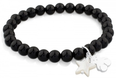 Apyrankė Tous Onyx bracelet with teddy bear and asterisk 515114570-M