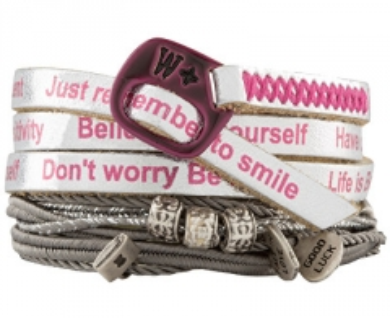 Apyrankė We Positive Silver Nice Crazy Collection Bracelet NI533 Fuxia