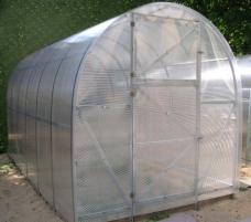Šiltnamis EKO (8 m2) 2000x4000x2100 su 4mm polikarbonato danga Šiltnamiai
