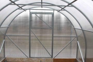 Arched polikarbonatinis surenkamas greenhouse PREMIUM 3x4