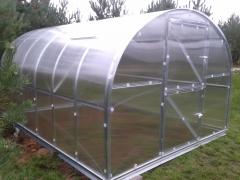 Arkinis šiltnamis KLASIKA 12 m2 (3x4 m) su 4 mm. polikarbonato danga Šiltnamiai