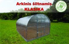 Arkinis šiltnamis KLASIKA 24 m2 (3x8 m) su 4 mm. polikarbonato danga