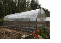 Arkinis šiltnamis KLASIKA 24 m2 (3x8 m) su 6 mm. polikarbonato danga Šiltnamiai