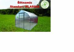 Šiltnamis Standart KLASIKA 5m2 (1stoglangis) 2500x2000 su 6 mm.polikarbonato danga