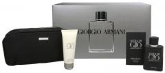 Armani Acqua di Gio Profumo - 75 ml Eau De Parfum purškiklis + Acqua Di Gio Pour Homme dušo želė 75 ml + kosmetinis krepšys (Rinkinys) Kvepalų ir kosmetikos rinkiniai