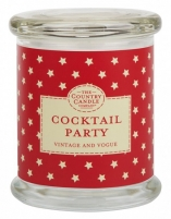 Aromatinė žvakė Country Candle Glass candle in glass with lid Cocktail party 848 g Kvapai namams