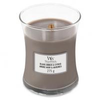 Aromatinė žvakė WoodWick Scented candle vase Black Amber & Citrus 275 g Kvapai namams