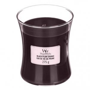 Aromatinė žvakė WoodWick Scented candle vase Black Plum Cognac 275 g Kvapai namams