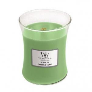 Aromatinė žvakė WoodWick Scented candle vase Hemp & Ivy 275 g Kvapai namams