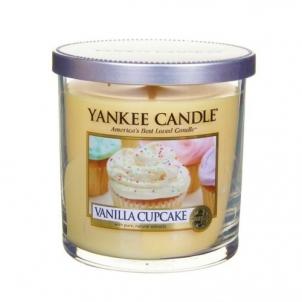 Aromatinė žvakė Yankee Candle Fragrant candle Décor small (Vanilla Cupcake) 198 g Kvapai namams