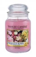 Aromatinė žvakė Yankee Candle Fresh Cut Roses Scented Candle 623g Kvapai namams