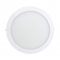 ART LED on plaster panel, round, 24*3.8cm, 18W, WW 3000K