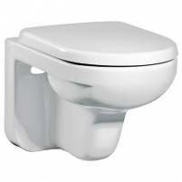 Artic hanging toilet with hard cover SC, baltas