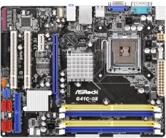 ASRock G41C-GS R2.0, G41, ICH7, COMBO DDR2-800/DDR3-1066, 4xSATA2, VGA, mATX Motherboard