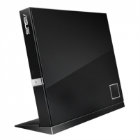 Asus SBW-06D2X-U Black external slim 6X Blu-ray, BDXL Support - Maximum Data Storage up to 128GB, Blu-ray 3D support Cd, cd-rw, dvd, juke devices