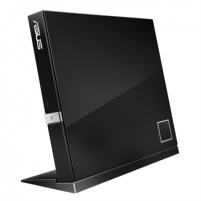 Asus SBW-06D2X-U Black external slim 6X Blu-ray, BDXL Support - Maximum Data Storage up to 128GB, Blu-ray 3D support