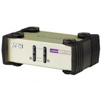 ATEN CS82U 2-Port PS/2-USB KVM Switch, 2x Custom KVM Cable sets, Non-powered