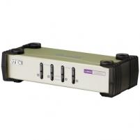 ATEN CS84U 4-Port PS/2-USB KVM Switch, 4x Custom KVM Cable Sets, Non-powered
