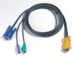 ATEN KVM kabelis (HD15-SVGA, PS/2, PS/2) - 3m