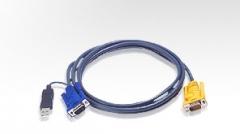 ATEN KVM kabelis (HD15-SVGA, USB, USB) - 2m