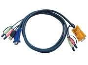 ATEN KVM kabelis (HD15-SVGA, USB, USB, Audio) - 3m