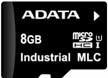 Atminties kortelė Adata Industrial microSDHC 8GB, MLC, nuo 0 iki 70C