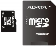 Atminties kortelė Adata microSDHC 16GB CL4  Adapteris