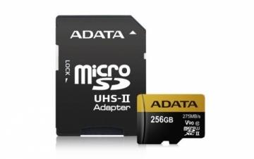 Atminties kortelė Adata microSDXC 256GB Class 10 read/write 275/155MBps