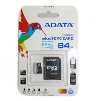 Atminties kortelė Adata Premier microSDXC UHS1 64GB Adapter