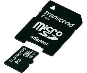 Atminties kortelė Atminties kortelė Transcend microSDHC 8GB CL10 UHS1 + Adapteris